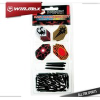 Winmax 12 Flights & 3 Nylon Shafts & 50 Black Soft Tips In 1...