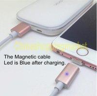 Pour Iphone 7 Plus Câble Chargeur Magnétique pour Android et Iphone Lumière Led Connecteur Métal Adaptateur de Charge Rapide pour Samsung S7 Edge