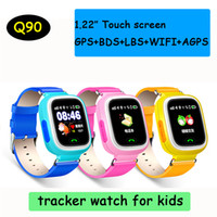 Q90 Bluetooth GPS Tracking Smartwatch Écran tactile avec WiFi LBS pour iPhone IOS Android SOS Call Anti Lost SmartPhone DHL OTH479