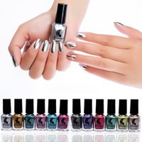 The newest metallic nail polish Candy Color Nail Art Decorat...