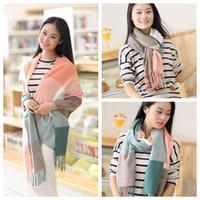 Women' s Plaid Scarf Cozy Winter Tassel Scarf Fashion Wr...
