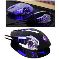 Wired V5 Silent USB Ergonomic 4000DPI Optical Gaming Mouse F...