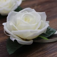 White rose artificial flower wedding decorative flowers with...