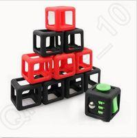 Смешные экологически чистого ABS Fidget куб игрушка защищать дело Magic Cube черный Подарочная коробка Дети декомпрессии тревоги защитная раковина CCA5597 200pcs