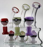 La plus nouvelle forme de boule de forme a coloré le bong de verre 7
