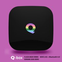 Q box android 6. 0 tv box with kodi Bluetooth Smart Media pla...