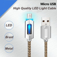 1M 3FT Fast Charger Braid Metal Micro USB Data Cable With LE...