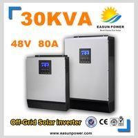 Горячее надувательство солнечного инвертора 30kVA 24KW 48V к 220V / 380V с инвертора сетки 80A MPPT чисто инвертор 60A волны синуса инвертора