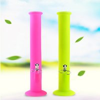2017 Hot Silicone Bong Water Pipe Oil Rigs Joint Size 14.4MM 38 cm Hauteur Silicone Water Pipe Livraison gratuite SP195