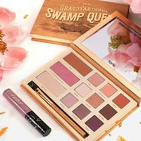 Tarte palette Swamp Queen Ombre à paupières en argile Palette d'argile Ombre à paupières Par Tarte EyeShadow Palette avec pinceau 12 couleurs