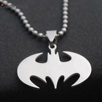 10PCS Lot Steel Necklace Superheroes batman necklace stainle...