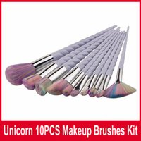 10pcs set Makeup Brushes Spiral Colorful Brushes Professiona...