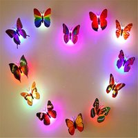 Romantic Magic Colorful Butterfly Decorative Light Adhesive ...