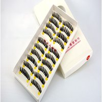 Human Hair False Eyelashes Handmade Thick Long Classical Fak...