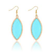 Prix de gros Kendra Scott Style Gemme naturelle Boucles d'oreille en pierres Accessoires Bijoux en or plaqué or Cadeaux pour femme