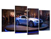 4 шт. / Комплект HD Printed Форд Mustang Shelby Картина с картинкой Декорирование номера в настенной живописи Печать постеров на холсте для украшения гостиной XA380C