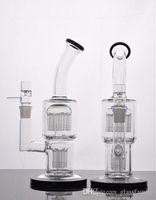 2017 Nouvelle arrivée de haute qualité Oil Rig Bong verre de verre prix bon marché Water Pipe avec Dry Herb Bowl verre Water Pipe Straight