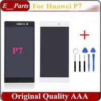 Pour Huawei P7 P7-L10 LCD Display + Touch verre Digitizer Assemblée Remplacement Noir Blanc Avec Outils Ouverts Livraison gratuite