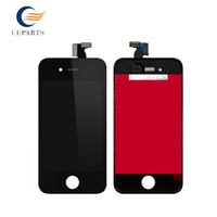 Haut de téléphone portable de qualité de téléphone arrière pour l'iPhone 4 4s couverture noire / blanche de verre de couverture de porte de batterie avec l'expédition rapide de DHL