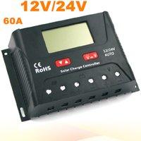 Хорошее качество PWM солнечный контроллер 60A Солнечный регулятор 12V 24V ЖК-дисплей USB 5V солнечной панели зарядки регулятор зарядное устройство