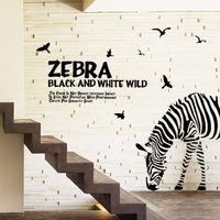 Zebra Muursticker Adesivo De Parede DIY Wall Stickers Abstra...