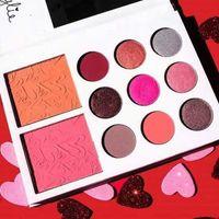 Kylie Jenner sombra de ojos del diario Kit sombra de ojos paleta kylie valentines colección kyshadow duos 11 colores para el día de San Valentín de regalo! 12pcs