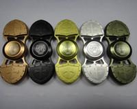 Croisé Fidget Spinner EDC en alliage croisé main Spinner 5 couleurs doigt gyroscope décompression focus Toy OOA1356