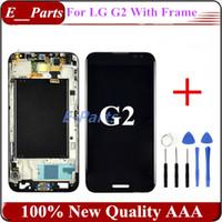 1Pcs Pour LG Optimus G2 D800 D801 D802 D805 Affichage LCD + numériseur écran tactile avec bon cadre (qualité 100% AAA écran original)