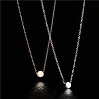 Small gold beans collarbone necklace New Fashion Jewelry For...