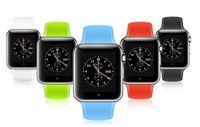 A1 Montre Smart GT08 U8 DZ09 Montres Smartwatch iWatch Support SIM TF Montres-bracelets Smart avec bracelet en silicone avec la boîte de détail