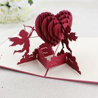 Cupid Patten Handicraft 3D Pop Up Wed Cards Wedding invitati...