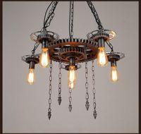Vintage Special Dinning Room Creative Loft Gear Pendant Lamp...