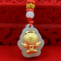 Smile Smiling angel Boutique pendant hot style Hetian white ...