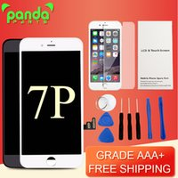 Affichage AAA de qualité AAA de 5,5 pouces avec l'ensemble écran tactile numérique 3D Blanc Lcd noir pour iphone 7 7 Plus DHL gratuit