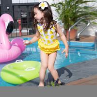 Everweekend Girls Yellow Darks Print Ruffles Swimwear Tutu S...