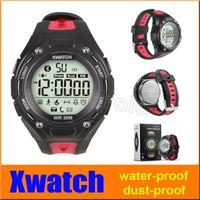 XWatch Outdoor Sport Smart Watch étanche à la poussière-nuit Visible podomètre APP sommeil Moniteur pour Android IOS avec le paquet de vente au détail 20pcs