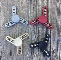 EDC Hand Spinner 4 colores de plástico Fidget Spinner HandSpinner Juguetes Fingertip Spinner juguetes de ansiedad de descompresión con la caja al por menor OOA1422