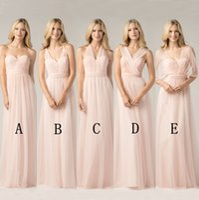 Cheap 2017 Convertible Bridesmaid Dresses Blush Pink Custom ...