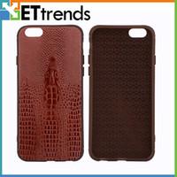 Nouvelle qualité d'arrivée AAA Crocodile Skin Case pour iPhone 7/7 Plus 6/6 Plus Phone Protector Case Remplacement DHL Livraison gratuite
