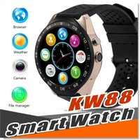 KW88 3G Smart Watch Android 5.1 IOS montre Quad Core support 2.0MP Appareil photo Bluetooth smartwatch Carte SIM WiFi GPS Cardiomètre