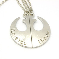20PCS  Lot Rebel Insignia Love couples Necklace two piece Ne...