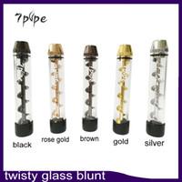 Twisty Glass Blunt Pipe Vaporisateur à base de plantes de deuxième génération Dry Herb Vape Pen haute qualité 5 couleurs 7Pipe Vapor 0266109