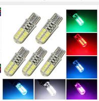 100PCS T10 3014 24SMD Silica Light Car LED Light 12V Interio...