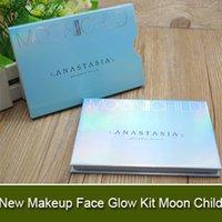 Factory Direct DHL Livraison gratuite Nouveaux surligneurs métalliques de poudre de l'enfant de lune de Kit de lueur de visage de maquillage 6 couleurs Palette de poudre!