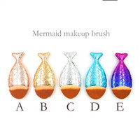 New Mermaid Makeup Brush Powder Contour Fish Scales Mermaids...