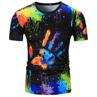 Summer T- shirts American and European New 3d Digital Prints ...