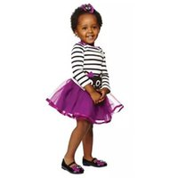 Girls Princess Striped T- shirts + Tutu Skirts Suits Toddlers...
