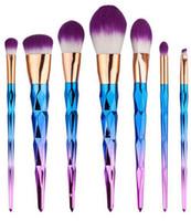 Brosse Kit Unicorn Vander 7pcs Crème Power Maquillage Professionnel Brosses Beauté Multi-usage Cosmétiques Puff Batch Kabuki Blusher 2017 Nouveau