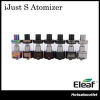Nouvelles couleurs iSmoka Eleaf iJust S Atomizer Capacité énorme 2ML wth Nouveau CEL 0.18ohm Head Top E-juice Atteinte de remplissage 100% Original