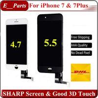 Pour iPhone 7 iPhone 7 Plus LCD Écran d'origine Qualité AAA + Aucun pixel mort Affichage complet Digitizer Full Assembly avec une bonne touche 3D Par DHL